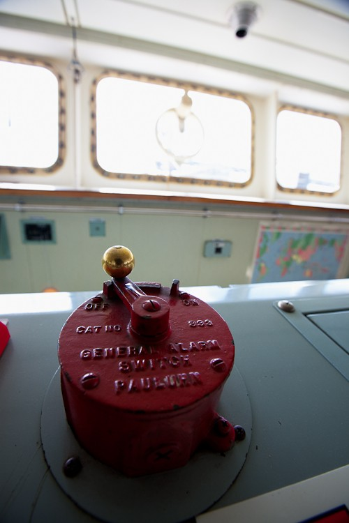 The general alarm on a bulk carrier docked in Galena Park, TX.  (c) 2010 Robert Almeida Photography