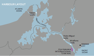 Panama Canal - PSA Panama International Terminal Map