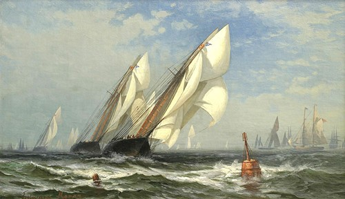 The Winning Yacht 1876 - Edward Moran