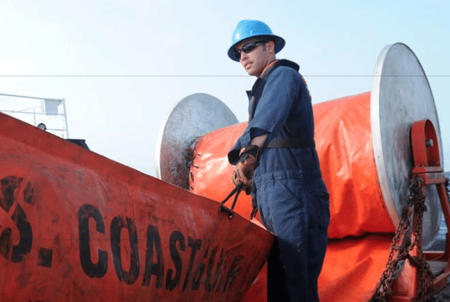 USCG Oil Spill Cleanup Boom