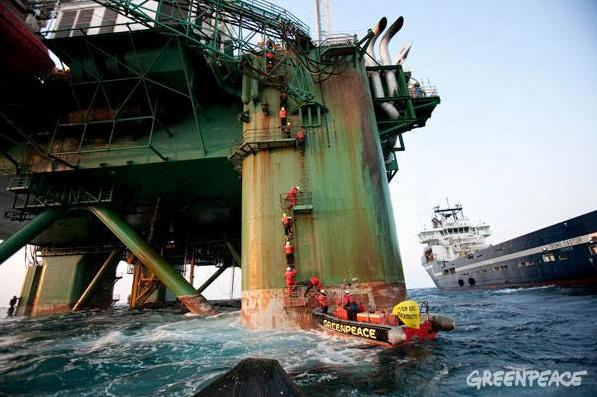 Greenpeace drilling cairn energy