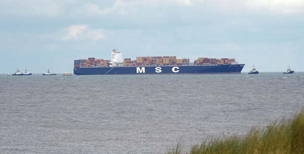 MSC Luciana aground