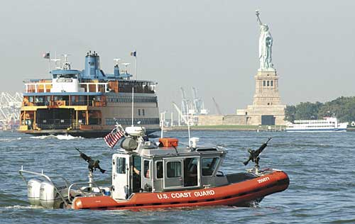 USCG Coast Guard RHIB port security new york maritime domain awareness