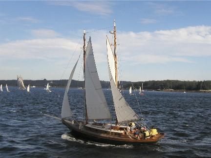 Puritan Maine Maritime sailing sailboat penobscot bay