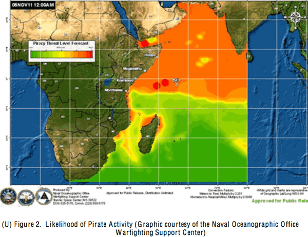 likelihood of somali pirate activity indian ocean