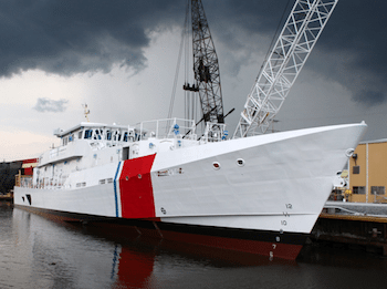 The second Fast Response Cutter, the Richard Etheridge, was launched in August. U.S. Coast Guard photo.
