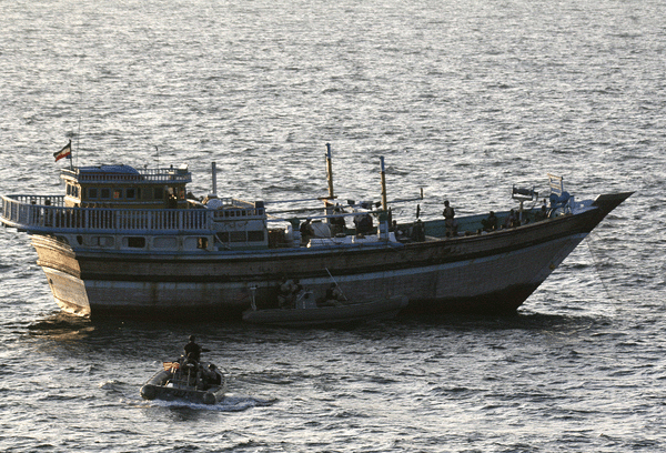 The Iranian-flagged fishing dhow Al Molai and her crew were rescued by the U.S. Navy last week.  Photo: (U.S. Navy photo/Released)
