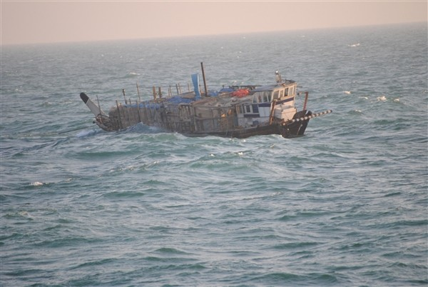 The the Iran-flagged dhow, Ya-Hussayn. Photo: U.S. Navy