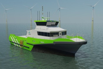 austal wind farm support vessel trimaran