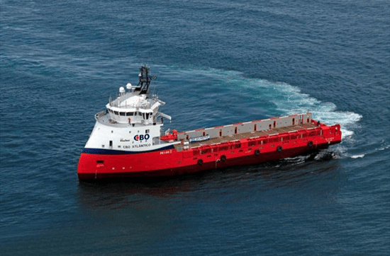 The ULSTEIN designed platform supply vessel 'CBO Atlântico' is delivered. (Photo: Estaleiro Alianca)