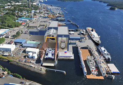 Alaska Ship & Drydock: current view & planned development. Credit Vigor Industrial