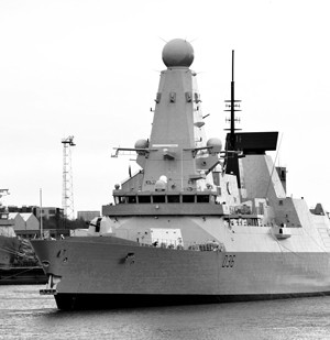 Defender BAE Systems warship royal navy