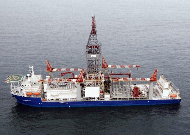 The ultra-deepwater drillship, Dragonquest.  Image: Vantage Drilling