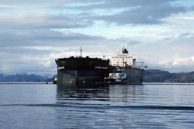 The Exxon Valdez aground on Bligh Reef. Photo: NOAA