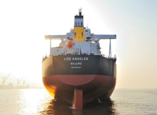 Diana Shipping's new newcastlemax 'Los Angeles', a 206,000 dwt dry bulk carrier delivered in February 2012. Photo: Diana Shipping