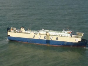 ASTORIA, Ore. – The 648-foot motor vessel Morning Spruce floats adrift off the Oregon Coast, Sunday, February 26, 2012. USCG photo.