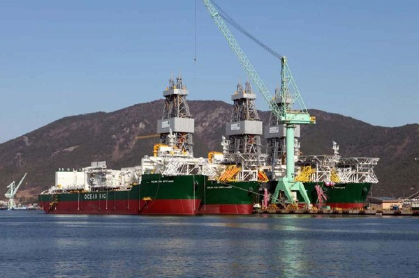 ocean rig sete brasil drillships samsung heavy industries shipyard shipbuilding