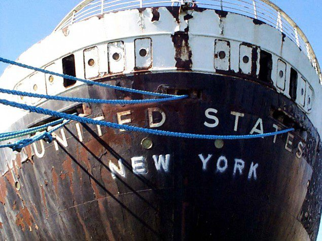 Photo Of The SS United States by Gene Carl Feldman