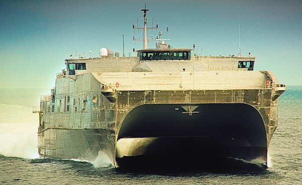 JHSV 1 Sea Trials, image: Austal