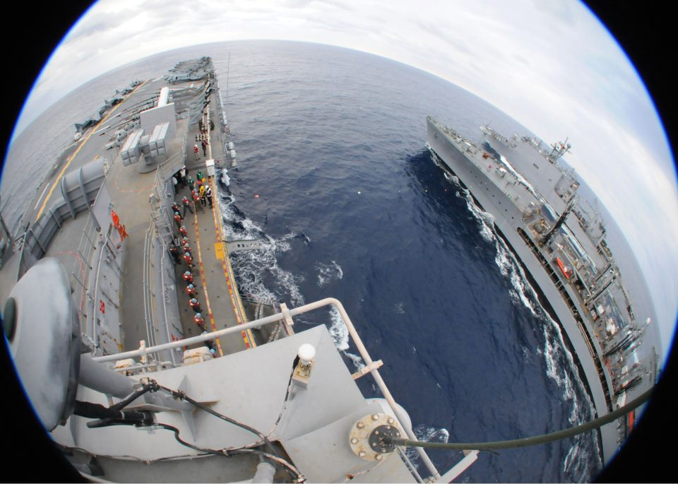 uss essex underway replenishment unrep