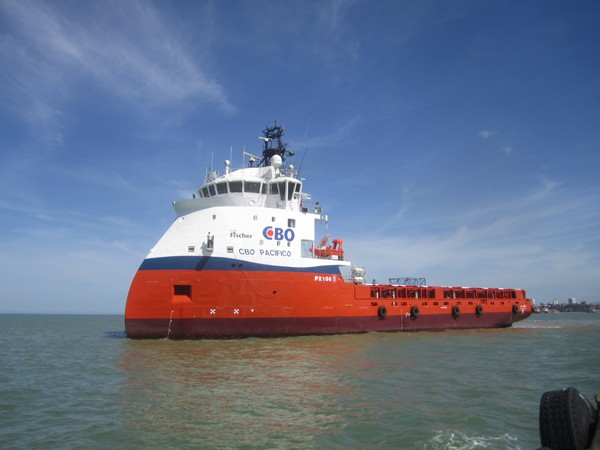 The platform supply vessel 'CBO Pacifico', designed by ULSTEIN, is delivered from Estaleiro Alianca in Brazil.