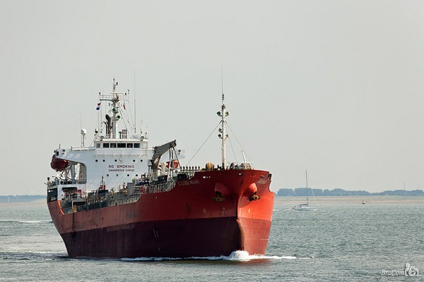 The Liquid Velvet, a 6,000 gross ton chemical tanker owned by Elmira Tankers.