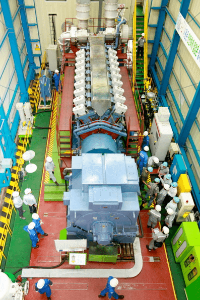 Test run of Hyundai Heavy's Eco-friendly Gas Engine HiMSEN H35/40GV