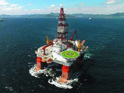 Haiyang Shiyou 981 semi-submersible drilling rig.