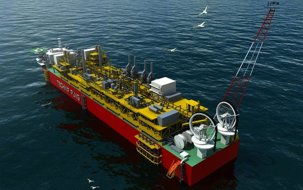 An illustration of a Technip-designed FLNG facility. Image: Technip