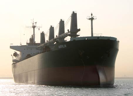 Eagle Bulk&#039;s 50,296 dwt, &quot;Merlin&quot;. Photo: Eagle Bulk Shipping