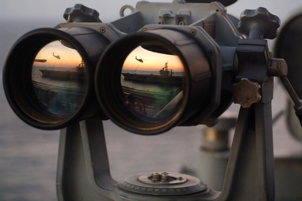 naval intelligence binoculars aircraft carrier us navy intel