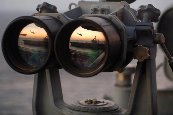 naval intelligence binoculars aircraft carrier us navy intel