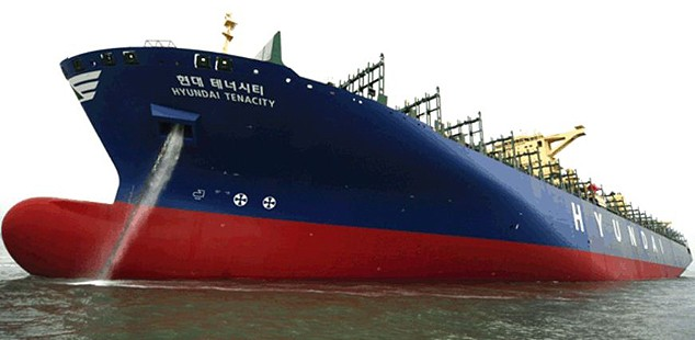 hyundai tenacity containership