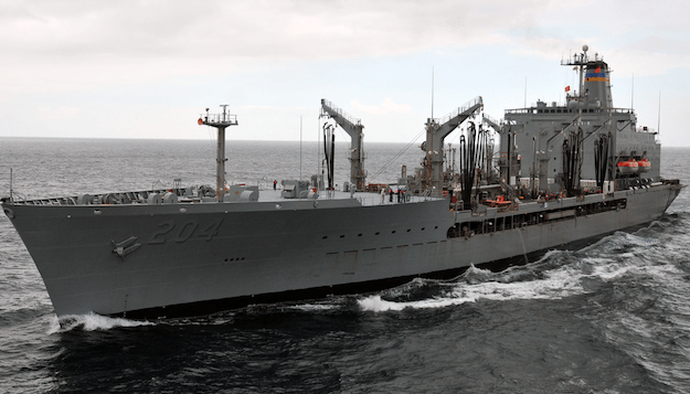 The Military Sealift Command fleet replenishment oiler USNS Rappahannock