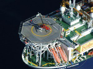 stena carron drillship helipad rig