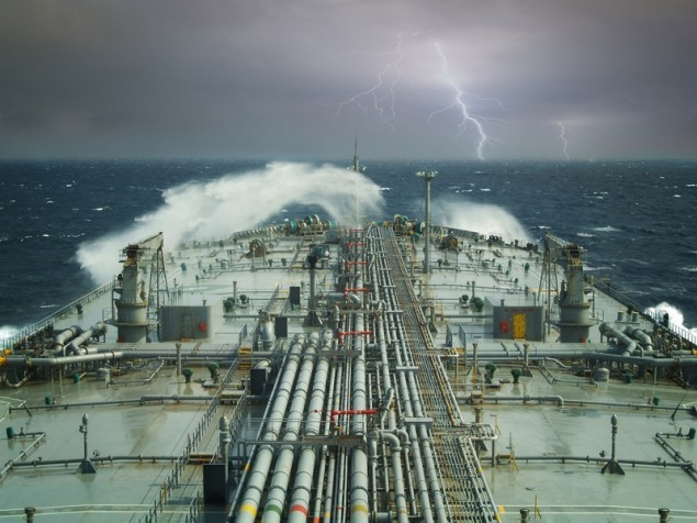 A VLCC headed for the eye or the storm. Image (c) Shutterstock/Montenegro