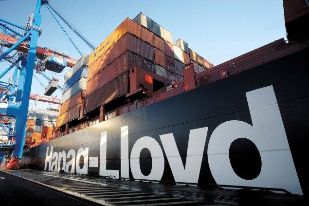 Berlin Express, a German-flagged, 7506 TEU containership. Image courtesy Hapag-Lloyd