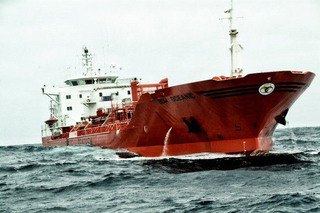 Bow oceanic odefjell tanker chemical