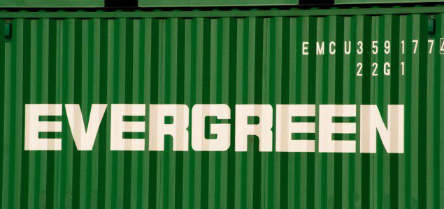 evergreen shipping container
