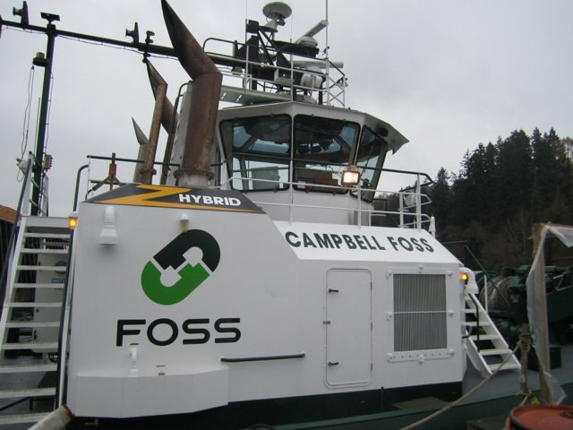 Foss&#039;s Hybrid Tug, Campbell Foss. Image: Foss Maritime