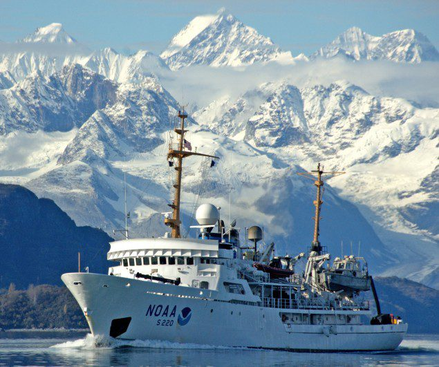 noaa ship fairweather in Alaskan waters