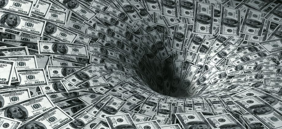 shutterstock money vortex black hole decline finance