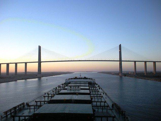 Egyptian-Japanese Friendship Bridge suez canal ship shipping capesize bulk carrier