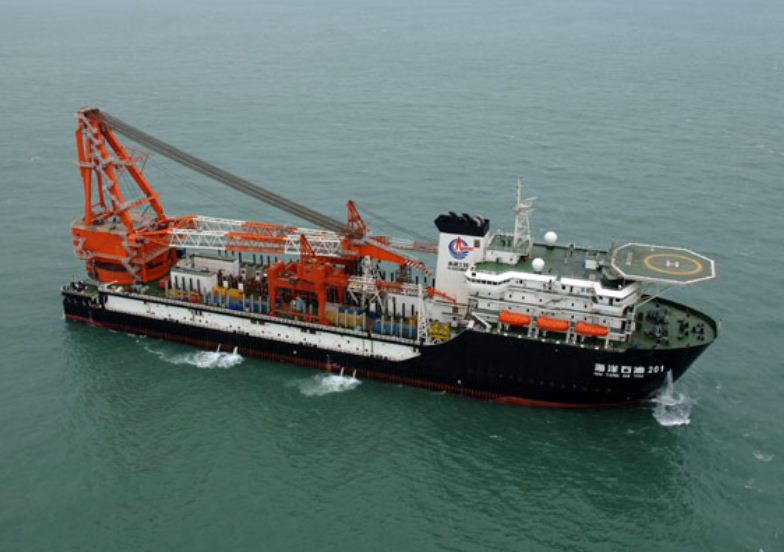 "Built by China Rongsheng, the ""Hai Yang Shi You 201"" is a deepwater pipe-laying vessel regarded as one of the pillars of the Chinese deepwater resources exploitation fleet. Rongsheng Offshore & Marine, based in Singapore, was recently established to further develop marketing and R&D capability in the offshore engineering market. Image: China Rongsheng Heavy"