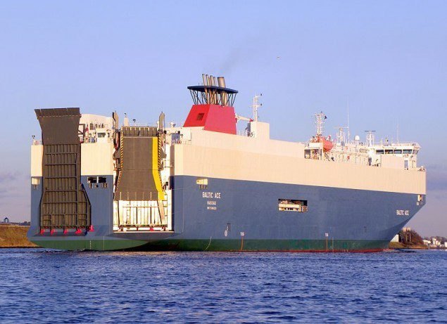 File photo of the Baltic Ace car carrier.