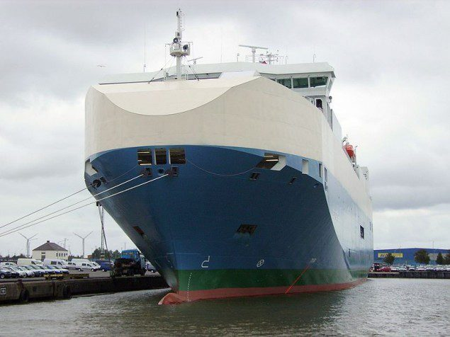 "File photo of the car carrier ""Baltic Ace"" in the port of Bremerhaven, Germany"