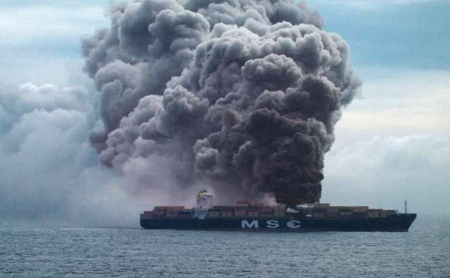 MSC Flaminia Container Ship Fire