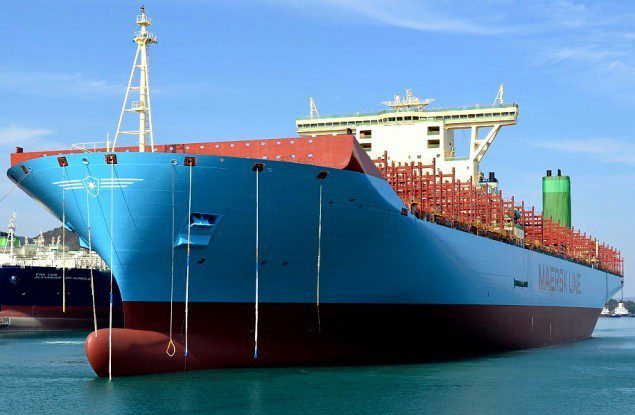 maersk line triple-e containership