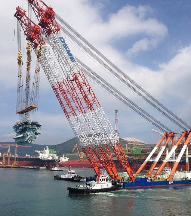 dsme crane barge engine