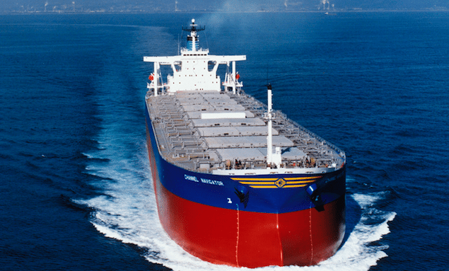 Golden Ocean's capesize bulker, Channel Navigator. Image courtesy Golden Ocean